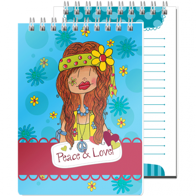 "Calepin de notes ""Peace & Love """